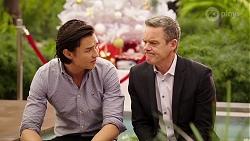 Leo Tanaka, Paul Robinson in Neighbours Episode 8004