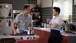 Aaron Brennan, David Tanaka in Neighbours Episode 8004