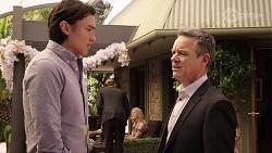 Leo Tanaka, Paul Robinson in Neighbours Episode 8005