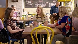 Piper Willis, Xanthe Canning, Sheila Canning in Neighbours Episode 8005