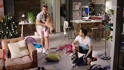 Aaron Brennan, Regina Grundy, David Tanaka in Neighbours Episode 8005