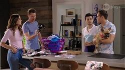 Elly Conway, Mark Brennan, David Tanaka, Aaron Brennan, Regina Grundy in Neighbours Episode 8005