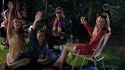 Elly Conway, Mark Brennan, Aaron Brennan, Chloe Brennan in Neighbours Episode 8006