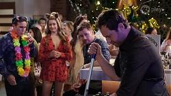 Aaron Brennan, Chloe Brennan, Mark Brennan, Shane Rebecchi in Neighbours Episode 8006