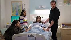 Yashvi Rebecchi, Kirsha Rebecchi, Dipi Rebecchi, Shane Rebecchi in Neighbours Episode 8007