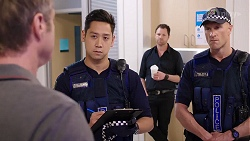 Gary Canning, Constable Miles Doughty, Shane Rebecchi in Neighbours Episode 8007