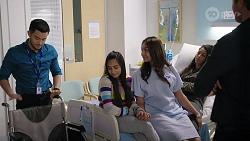 David Tanaka, Kirsha Rebecchi, Dipi Rebecchi, Yashvi Rebecchi, Shane Rebecchi in Neighbours Episode 8007