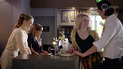 Chloe Brennan, Terese Willis, Delaney Renshaw, Leo Tanaka in Neighbours Episode 8009