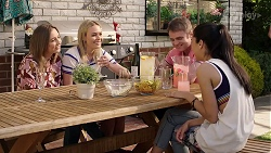 Piper Willis, Xanthe Canning, Gary Canning, Yashvi Rebecchi in Neighbours Episode 8012