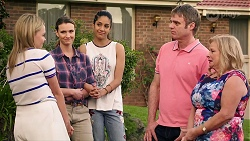 Xanthe Canning, Amy Williams, Yashvi Rebecchi, Gary Canning, Sheila Canning in Neighbours Episode 8012