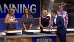 Xanthe Canning, Amy Williams, Sheila Canning, Grant Denyer, Gary Canning in Neighbours Episode 8012