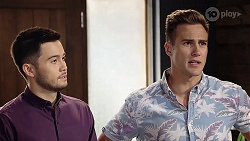 David Tanaka, Aaron Brennan in Neighbours Episode 8013