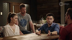 Chloe Brennan, Mark Brennan, David Tanaka, Aaron Brennan in Neighbours Episode 8013