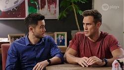 David Tanaka, Aaron Brennan in Neighbours Episode 8014