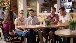 Fay Brennan, Chloe Brennan, David Tanaka, Aaron Brennan, Mark Brennan in Neighbours Episode 8014