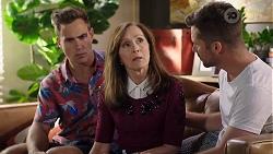 Aaron Brennan, Fay Brennan, Mark Brennan in Neighbours Episode 8014