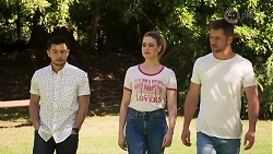 David Tanaka, Chloe Brennan, Mark Brennan in Neighbours Episode 8016