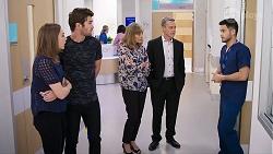 Piper Willis, Ned Willis, Jane Harris, Paul Robinson, David Tanaka in Neighbours Episode 8016