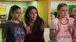 Yashvi Rebecchi, Elly Conway, Chloe Brennan in Neighbours Episode 8016