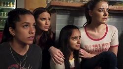 Yashvi Rebecchi, Elly Conway, Kirsha Rebecchi, Chloe Brennan in Neighbours Episode 8017