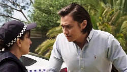 Snr. Sgt. Christina Lake, Leo Tanaka in Neighbours Episode 8017