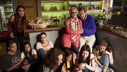 Elly Conway, Yashvi Rebecchi, Kirsha Rebecchi, Chloe Brennan in Neighbours Episode 8017