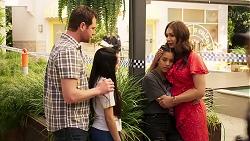 Shane Rebecchi, Kirsha Rebecchi, Yashvi Rebecchi, Dipi Rebecchi in Neighbours Episode 8017