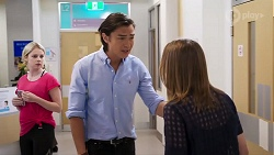 Delaney Renshaw, Leo Tanaka, Piper Willis in Neighbours Episode 8018