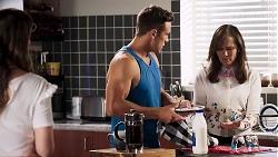 Elly Conway, Aaron Brennan, Fay Brennan in Neighbours Episode 8018