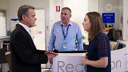 Paul Robinson, Karl Kennedy, Piper Willis in Neighbours Episode 8018