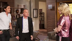 Leo Tanaka, Paul Robinson, Delaney Renshaw in Neighbours Episode 8019