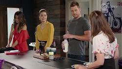 Elly Conway, Chloe Brennan, Mark Brennan, Fay Brennan in Neighbours Episode 8021