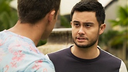 Aaron Brennan, David Tanaka in Neighbours Episode 8023