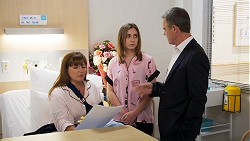 Terese Willis, Piper Willis, Paul Robinson in Neighbours Episode 8023