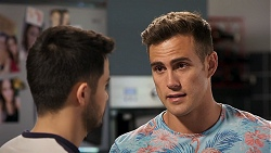 David Tanaka, Aaron Brennan in Neighbours Episode 8023