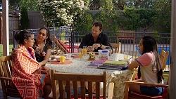 Yashvi Rebecchi, Dipi Rebecchi, Shane Rebecchi, Kirsha Rebecchi in Neighbours Episode 8024