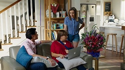 Leo Tanaka, Terese Willis, Piper Willis in Neighbours Episode 8024
