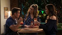Aaron Brennan, Chloe Brennan, Elly Conway in Neighbours Episode 8025
