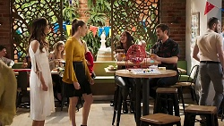 Elly Conway, Chloe Brennan, Bea Nilsson, Ned Willis in Neighbours Episode 8026