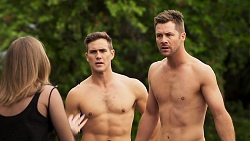 Piper Willis, Aaron Brennan, Mark Brennan in Neighbours Episode 8028