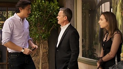 Leo Tanaka, Paul Robinson, Piper Willis in Neighbours Episode 8028