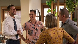 Mark Brennan, Aaron Brennan, Sonya Mitchell, Toadie Rebecchi in Neighbours Episode 8028