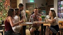 Bea Nilsson, Elly Conway, Mark Brennan, Brad, Aaron Brennan, Chloe Brennan in Neighbours Episode 8029
