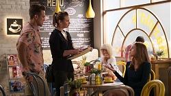 Aaron Brennan, Amy Williams, Melissa Lohan in Neighbours Episode 8029