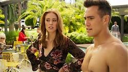 Melissa Lohan, Aaron Brennan in Neighbours Episode 8030