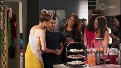 Chloe Brennan, David Tanaka, Elly Conway, Bea Nilsson in Neighbours Episode 8033