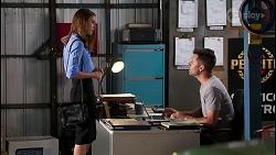 Melissa Lohan, Mark Brennan in Neighbours Episode 8033
