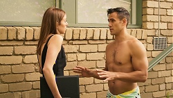 Melissa Lohan, Aaron Brennan in Neighbours Episode 8034