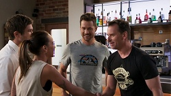 Ned Willis, Bea Nilsson, Mark Brennan, Lucas Fitzgerald in Neighbours Episode 8035