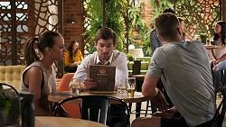 Bea Nilsson, Ned Willis, Mark Brennan in Neighbours Episode 8035